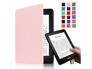 Fintie SmartShell Case for Kindle Voyage [The Thinnest and Lightest] Protective PU Leather Cover with Auto Sleep Wake for Amazon Kindle Voyage 2014 Pink