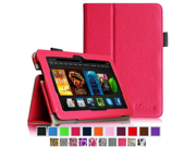 Fintie Folio Case for Fire HDX 7 Slim Fit Leather Standing Protective Cover with Auto Sleep Wake will only fit Kindle Fire HDX 7 2013 Magenta