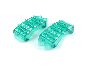 uxcell® Plastic Household Muscle Acupoint Relaxing Foot Massager 2pcs Green