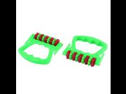 uxcell® Shoulder Back Pain Stress Release 9 Wheels Massage Roller Tool 2pcs