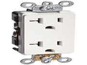 Morris 82181 Industrial Grade Decorative Duplex Receptacle 20 Amp Current 125V White