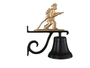 Montague Metal Products Cast Bell with Gold Fireman