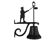 Montague Metal Products Cast Bell with Black Lamplighter