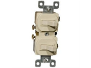 15A 120 277V Single Pole Double Switch in Ivory [Set of 3]