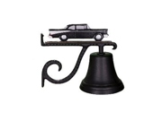 Montague Metal Products Cast Bell with Black and White Classic Car