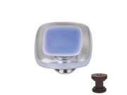 1.25 in. Knob in Sky Blue Oil Rubbed Bronze