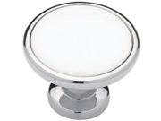 Liberty Hardware P50162H CHW C5 1.25 in. Chrome White Knob