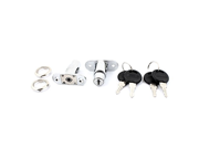 uxcell® Cabinet Mailbox Drawer Keyed Metal Cam Lock Locker Silver Tone 2pcs