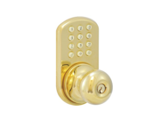 MORNING INDUSTRY INC HKK 01P Touchpad Electronic Doorknob Polished Brass