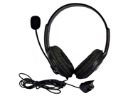 Generic Headset Headphone Earphone Microphone Compatible for Microsoft Xbox 360 Live Game Color Black