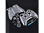 Full Housing Chrome Silver Shell with Buttons for Xbox 360 Controller