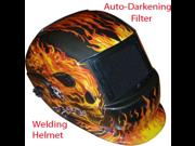 Yosoo® Red Flaming Skull Solar Auto-Darkening Welding Helmet 9SIA10557K2970
