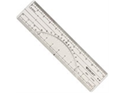 6 IN. X 1.5 IN. PROTRACTOR RULER