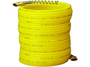 "Amflo 4-25E-RET Yellow 200 PSI Nylon Recoil Air Hose 1/4"""" x 25 With 1/4"""" MNPT Swivel End Fittings"" 9SIA10564U5990"