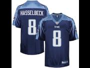 Matt Hasselbeck #8 Tennessee Titans NFL Reebok Mens Replica Jersey - Navy (Large) 9SIA1055847347