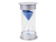 20 Minutes Hourglass Timer Silver Lid Blue Sand
