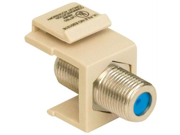 Datacomm 20 3202 LA Keystone Jack with 2.4 GHz F Connector Light Almond