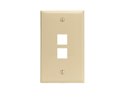 JAYBRAKE Leviton 41080 2Ip Quickport Tm Wallplate 2 Port; Ivory