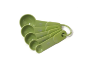 KitchenAid Classic Set of 5 Plastic Measuring Spoons Green Apple