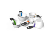 Good Cook Touch 5 Piece Dual Measuring Cup Set, White 9SIA10558K3233