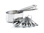 Cuisipro Stainless Steel Measuring Cup and Spoon Set 9SIA10558K3395