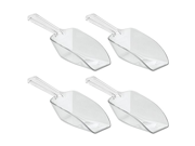 InterDesign Kitchen and Bath Scoops - Large, 1/3 Cup - 4 Pack, Clear 9SIA10558K3326