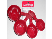 Farberware Ultrapro Set of 4 Measuring Cups - Red 9SIA10558K3309