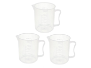 uxcell® 3 Pcs 500ML Measuring Cup Jug Surface Spoon Cooking Bakery Kitchen 9SIA10558K2792