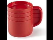 Umbra Cuppa Measuring Cup Set, Red 9SIV16A66U2772