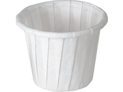 SOLO Cup Company White Jello Shot Paper Souffle Portion Cups Treated Paper Pleated Soufflé Portion Cup, 1 oz, 250 piece 9SIA10558K3056