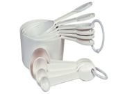Prepworks by Progressive Measuring Spoons and Cups, White - 10 Piece Set 9SIV16A66U6419