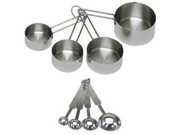 Update International 8-Piece Deluxe Stainless Steel Measuring Cup and Measuring Spoon Set 9SIV1976T56181