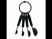 Bodum K11390-01 Bistro Measuring Spoons, Black, Set of 4