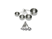 Update International 16-Piece Deluxe Stainless Steel 2 Sets of Four Measuring Cups and 2 Sets of Four Measuring Spoons 9SIA10558K2832
