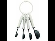 Bodum K11390-913 Bistro Measuring Spoons, Off-White, Set of 4