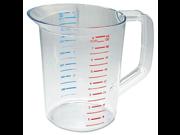 Rubbermaid Commercial 3217 2 qt Capacity, Clear Color, Polycarbonate Bouncer Measuring Cup 9SIA10558K3487