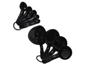 KitchenAid set Plastic Measuring Cups and Spoons (Black) 9SIA10558K3202