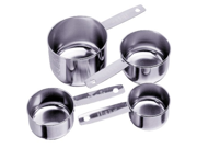 Progressive International 4-Piece Stainless Steel Measuring Cup 9SIV16A66U9741