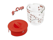 Pyrex Prepware 2-Cup Measuring Cup, Clear with Red Lid and Measurements - 8-Cup 9SIA10558K3305