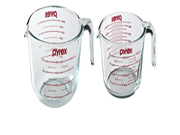 Pyrex Prepware Measuring Cup, Clear with Red Measurements, Duo Set, 1-each 1-Quart and 2-Quart 9SIA10558K3433