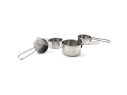 Carlisle 604310 Chef Series Stainless Steel 18-8 Heavy Weight Measuring Cup Set 9SIAD245E32850