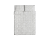 Ikea Krakris Duvet Cover and Pillowcases, Full/queen, Gray/white