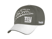 NFL New York Giants Super Bowl XLVI Champions Official Locker Room Hat, Charcoal Grey, One Size Fits All 9SIA10558X2456