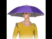 uxcell® Purple Polyester 8 Ribs Fishing Sun Rain Headwear Umbrella Hat Cap 9SIA10558X2498