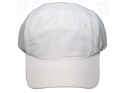 NEW! Blank Q 3 Technology Clip Back Cap Adjustable One Size Hat White