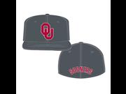 The University of Oklahoma Asphalt 6 7 8 7 1 4 Fit Hat
