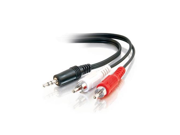 CABLES TO GO 6ft 3.5mm stereo male to rca male y-cable 9SIA1055934355