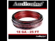 Audiopipe 25 Feet 18 GA Gauge Red Black 2 Conductor Speaker Wire Audio Cable