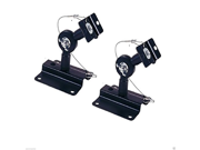 Wennow Heavy Duty Black Universal Satellite Speaker Mounts / Brackets for Walls and Ceilings 9SIA1055903361