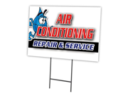"""AIR CONDITIONING REPAIR & SERVICE 18""""""""x24"""""""" Yard Sign & Stake outdoor plastic coroplast window"""" 9SIA4435TH5632"""